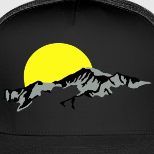 Mountains Sun Set sunset T-Shirts - Trucker Cap