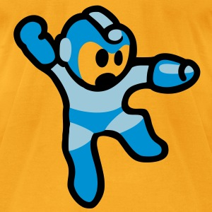 Megaman Jump Bag - Men's T-Shirt by American Apparel