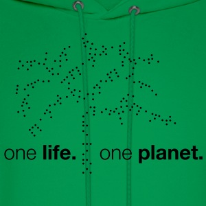 One Life. One Planet. T-Shirts - Men's Hoodie