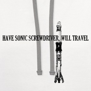 Have Sonic Screwdriver, Will Travel (11 Version) | - Contrast Hoodie