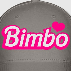 bimbo in popular doll font REDO with love heart Women's T-Shirts - Baseball Cap