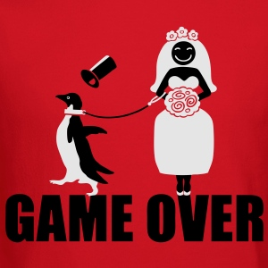 Game Over Penguin   Women's T-Shirts - Crewneck Sweatshirt