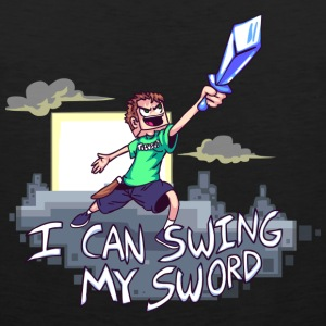 I Can Swing My Sword Hoodies - Men's Premium Tank