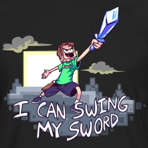 I Can Swing My Sword T-Shirts - Men's Premium Long Sleeve T-Shirt