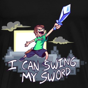I Can Swing My Sword Hoodies - Men's Premium T-Shirt
