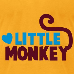 LITTLE monkey perfect for a family design Bags  - Men's T-Shirt by American Apparel