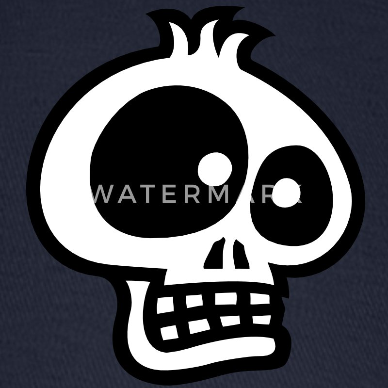 Cartoon SKULL 3 small vector Caps - Baseball Cap