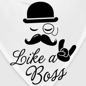 Like a boss meme slogan with fashionable moustache sir t-shirts for geek stag frat mad birthday party Kids' Shirts - Bandana