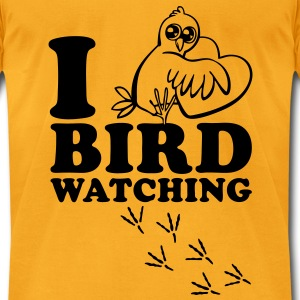 I Love Bird Watching Bags  - Men's T-Shirt by American Apparel