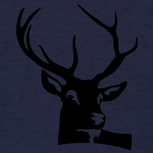Deer Head (1c)++ Polo Shirts - Men's T-Shirt
