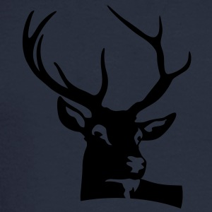 Deer Head (1c)++ Polo Shirts - Men's Long Sleeve T-Shirt