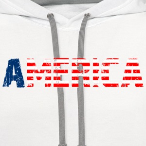 America T-Shirts - Contrast Hoodie