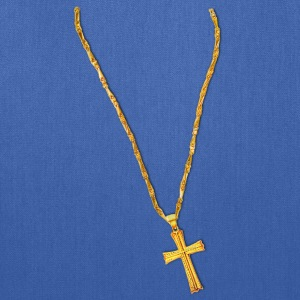 Long Gold Chain and Cross T-Shirts - Tote Bag