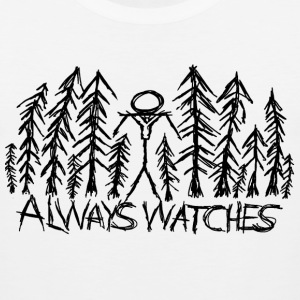 White Always Watches Slenderman T-Shirt T-Shirts - Men's Premium Tank