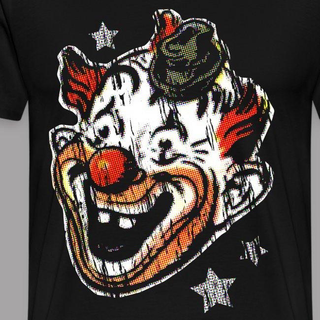 Retro Clown Topstone Mask Men's Halloween Shirt