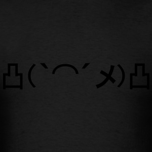 Mo' Angry Glow in the Dark Japanese Emoticon Hoodies - Men's T-Shirt