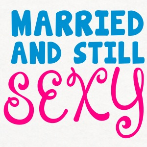 married and still sexy husband wife humour Accessories - Contrast Hoodie