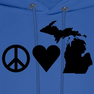 Peace Love Michigan Tanks - Men's Hoodie