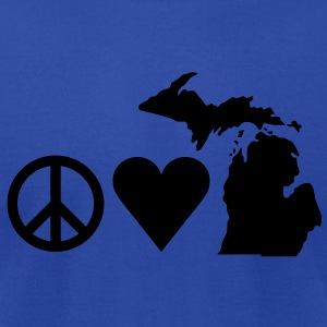 Peace Love Michigan Tanks - Men's T-Shirt by American Apparel