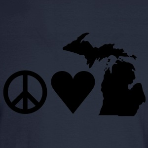 Peace Love Michigan Tanks - Men's Long Sleeve T-Shirt