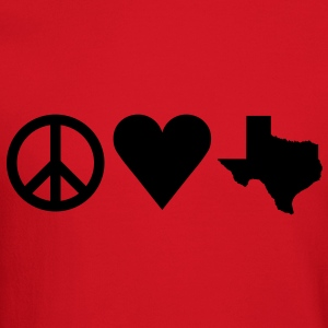 Peace Love Texas Women's T-Shirts - Crewneck Sweatshirt