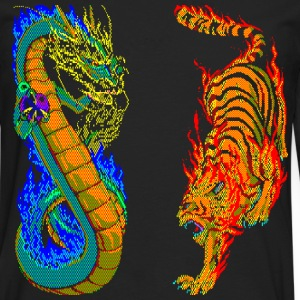 Dragon vs Tiger - Men's Premium Long Sleeve T-Shirt