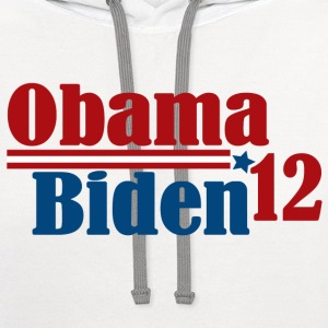Re-Elect Obama Biden 2012 Women's T-Shirts - Contrast Hoodie