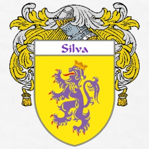 Silva Coat of Arms/Family Crest - Men's T-Shirt