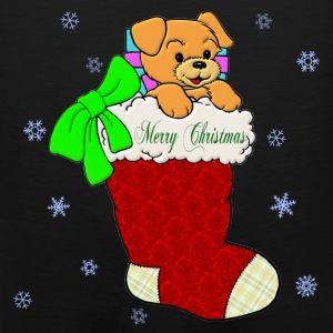 Christmas Puppy - Men's Premium Tank