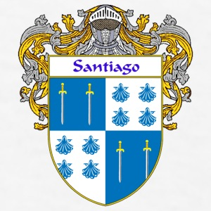 Santiago Coat of Arms/Family Crest - Men's T-Shirt