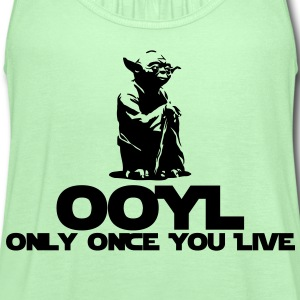 KCCO STARWARS Yoda OOYL Funny T-Shirts - Women's Flowy Tank Top by Bella