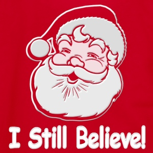 I Still Believe Santa - Unisex Fleece Zip Hoodie by American Apparel