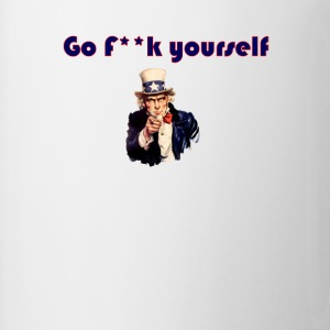 go f**k yourself invisible Obama Eastwooding T-Shi - Coffee/Tea Mug