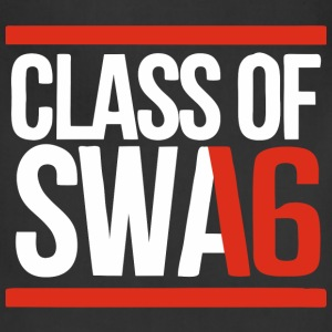 CLASS OF SWAG (2016) red with bands Women's T-Shirts - Adjustable Apron
