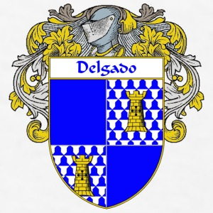 Delgado Coat of Arms/Family Crest - Men's T-Shirt