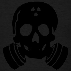 Skull Gas Mask Caps - Men's T-Shirt