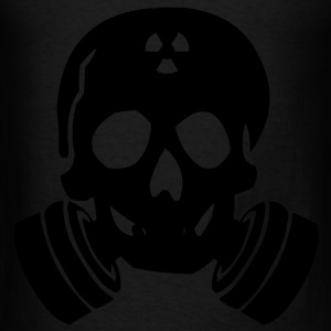 Skull Gas Mask Bags  - Men's T-Shirt