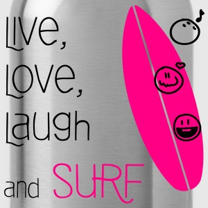 Live, Love, Laugh & Surf - Water Bottle