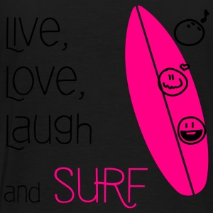 Live, Love, Laugh & Surf - Men's Premium T-Shirt