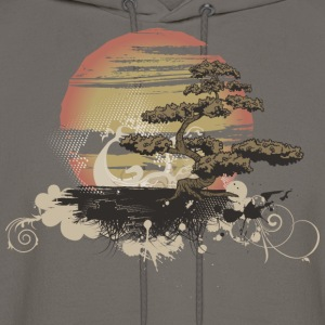 Bonsai Scene T-Shirts - Men's Hoodie