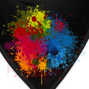 Abstract Paint Splatter T-Shirts - Bandana