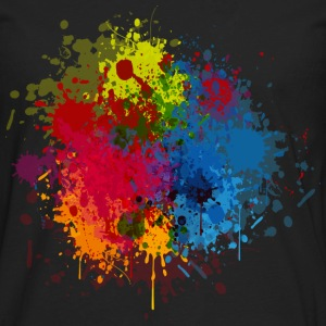 Abstract Paint Splatter T-Shirts - Men's Premium Long Sleeve T-Shirt
