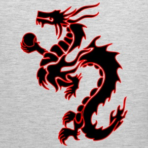tribal_chinese_dragon bk/rd Hoodies - Men's Premium Tank