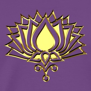 GOLDEN LOTUS/ c /symbol of divinity Hoodies - Men's Premium T-Shirt