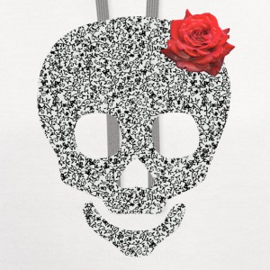 skull and rose Buttons - Contrast Hoodie