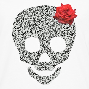 skull and rose Buttons - Men's Premium Long Sleeve T-Shirt