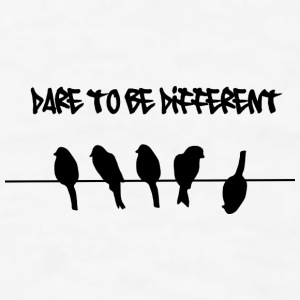 Dare to be Different Birds on a wire Accessories - Men's T-Shirt