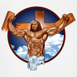 Funny Gym Shirt - Come at me bro jesus T-Shirts - Adjustable Apron