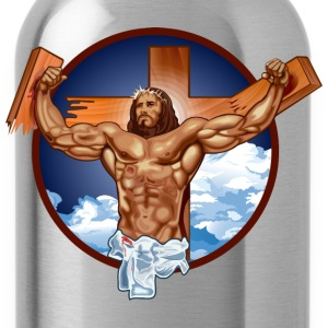 Funny Gym Shirt - Come at me bro jesus T-Shirts - Water Bottle