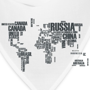 World Map Typography T-Shirts - Bandana